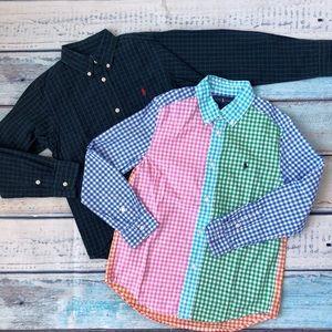 Two Ralph Lauren cotton shirts